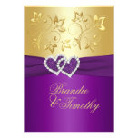 La púrpura IMPRESA de la CINTA, boda floral del or