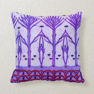 La púrpura ramifica las almohadas de MoJo del