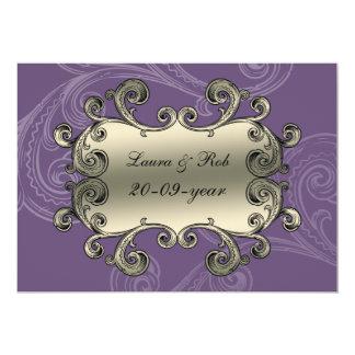la púrpura real del flourish le agradece invitación 12,7 x 17,8 cm