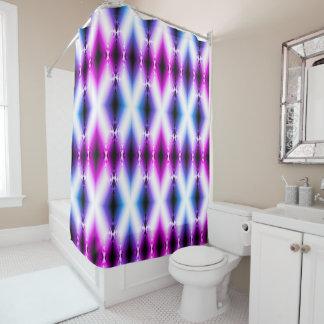 La púrpura rosada brillante del haz extranjero cortina de baño