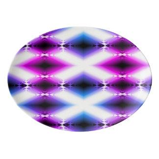La púrpura rosada brillante del haz extranjero fuente de porcelana