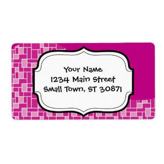 La púrpura rosada magenta teja los regalos del etiquetas de envío