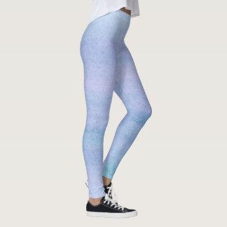 La púrpura y el trullo texturizaron la salpicadura leggings