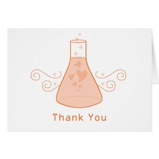 La química dulce anaranjada le agradece cardar tarjeta