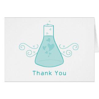 La química dulce de la aguamarina le agradece tarjeta pequeña