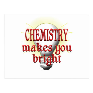 La química le hace brillante postal