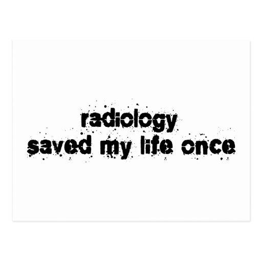 La radiología ahorró mi vida una vez postales