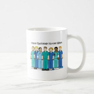 La radiología feliz cuida semana taza de café