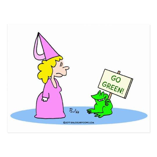 "¡La rana a la princesa ""va verde! "" Postal"