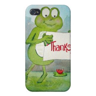 La rana caprichosa con gracias le agradece firmar iPhone 4 protectores