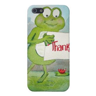 La rana caprichosa con gracias le agradece firmar iPhone 5 funda