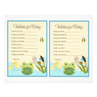 La rana en las notas del bebé de la charca/de la folleto 21,6 x 28 cm