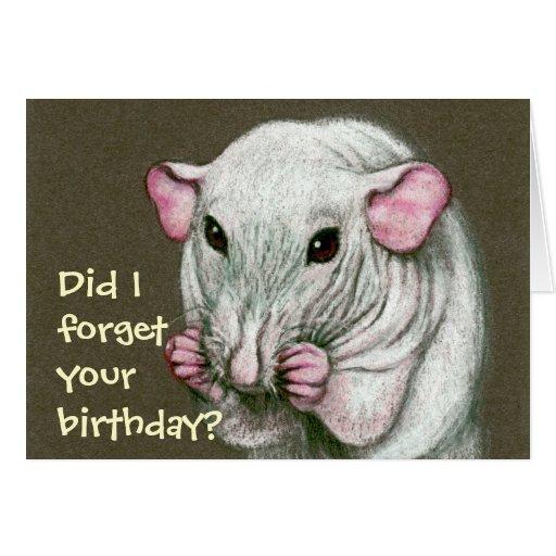 ¿La rata sin pelo, olvida cumpleaños? Tarjetas