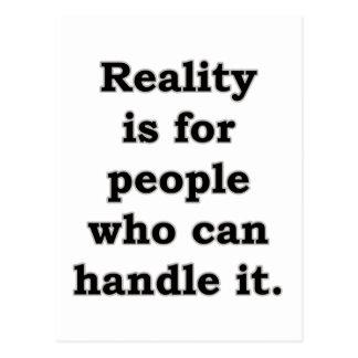 La realidad está para la gente está para la gente… postal