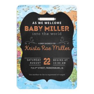 La recepción a la fiesta de bienvenida al bebé del invitación 12,7 x 17,8 cm