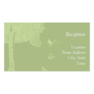 La recepción al aire libre invita tarjetas de visita