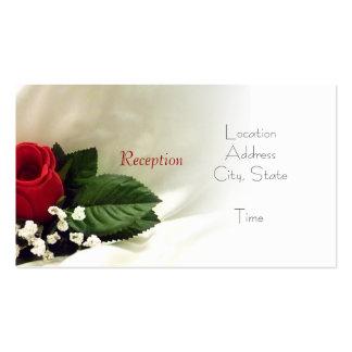 La recepción color de rosa invita tarjetas de visita