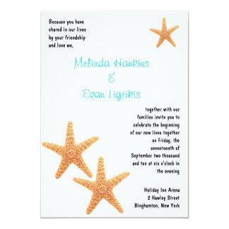 La recepción de las estrellas de mar invita invitación 12,7 x 17,8 cm