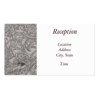 La recepción de los marrones invita tarjetas de visita