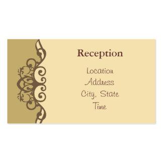 La recepción de lujo del caramelo invita tarjetas de visita