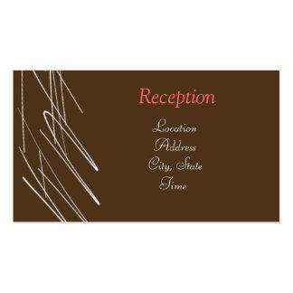 La recepción del chocolate invita tarjetas de visita