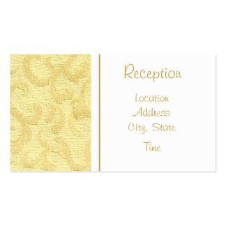 La recepción del oro invita tarjetas de visita
