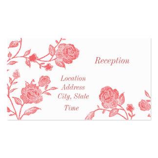 La recepción floral invita tarjetas de visita