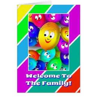 La recepción linda a la familia hincha la tarjeta