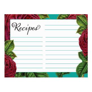 La receta carda color de rosa y el trullo postal