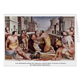 La reconciliación de Emilius Leidus con Flavius Tarjeta De Felicitación