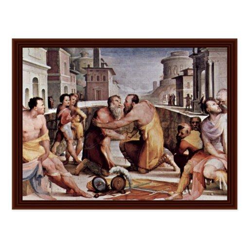 La reconciliación de Emilius Leidus con Flavius Tarjetas Postales