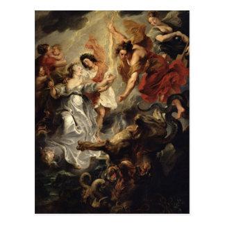 La reconciliación de Marie de Medici y ella Postal