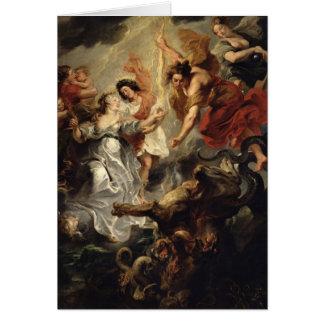 La reconciliación de Marie de Medici y ella Tarjeta De Felicitación