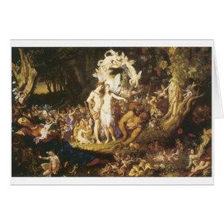 La reconciliación de Oberon y del Titania 1847 Tarjeton