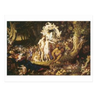 La reconciliación de Oberon y del Titania 1847 Postales