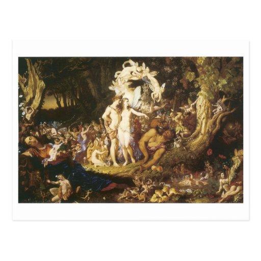 La reconciliación de Oberon y del Titania, 1847 Postales