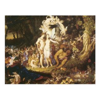 La reconciliación de Oberon y del Titania 1847 Tarjeta Postal