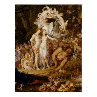 La reconciliación de Oberon y del Titania Postal