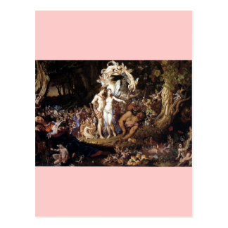 La reconciliación del Titania y de Oberon Postales