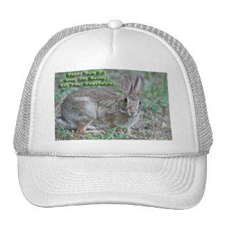 ¡La regla #2 del vegano obedece el conejito! Regal Gorro De Camionero