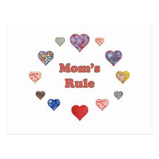 La regla de la mamá tarjetas postales