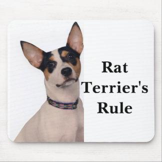 La regla de Terrier de rata Alfombrilla De Ratón