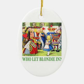 ¿La reina de corazones pide quién dejó Blondie a Adorno Para Reyes