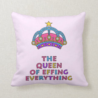La reina de Effing todo almohada de tiro