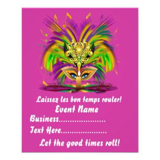 La reina del carnaval 4 5 x 5 6 las notas de la tarjeta publicitaria