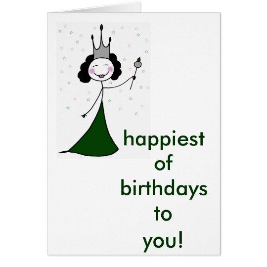 La reina del cumpleaños tarjeta de felicitación