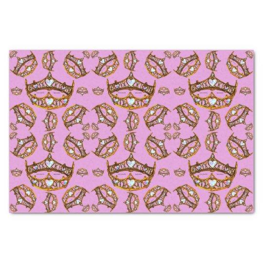 La reina del oro de los corazones corona la lila papel de seda