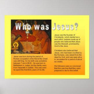 ¿La religión cristianismo quién era Jesús Poster