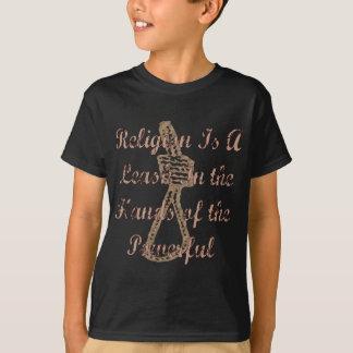 La religión es un correo camiseta