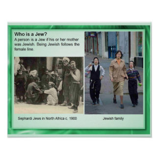 ¿La religión judaísmo quién es un judío Poster